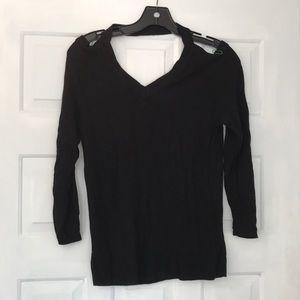 Nasty Gal Elegant Silm Deep V Pullover Sweater S